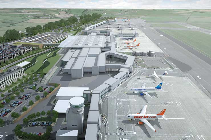 Bristol Airport development artists rendering