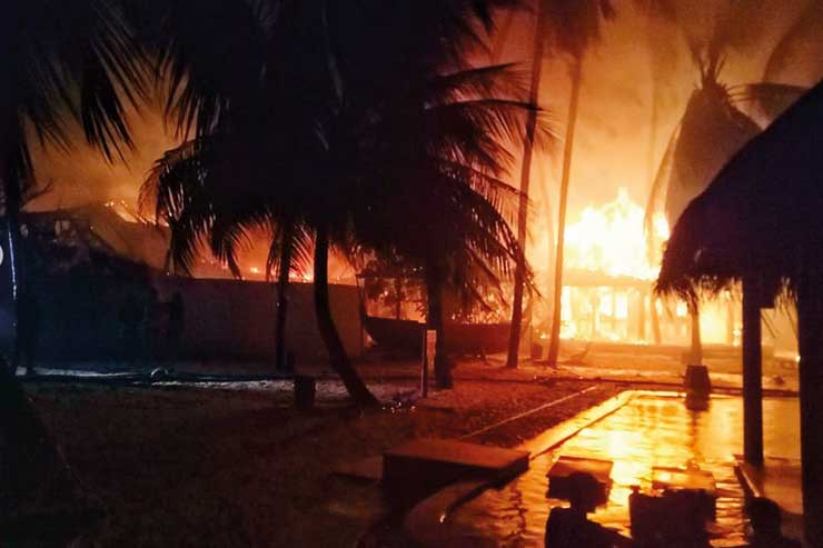 Maldives fire Jan 2019