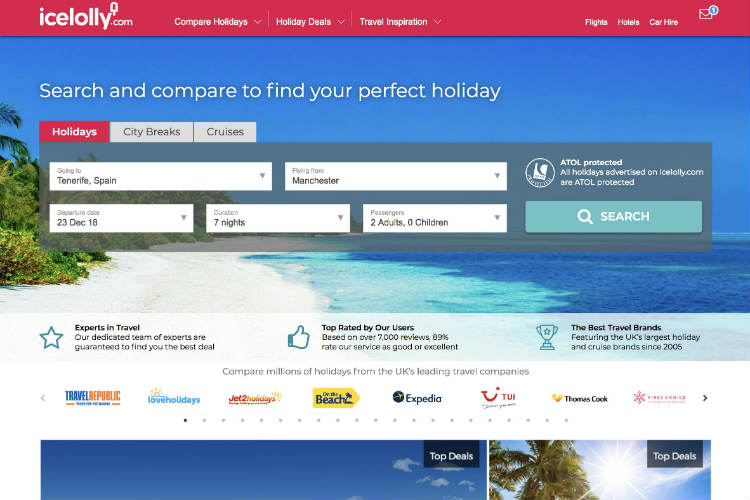 Icelolly unveils new-look website for peaks