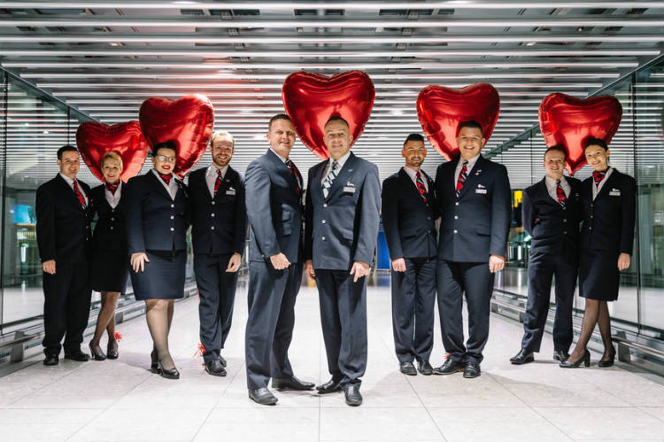 British Airways crew members to fly with partners for Valentine's