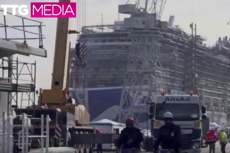 Princess Cruises: Touring its three ships under construction