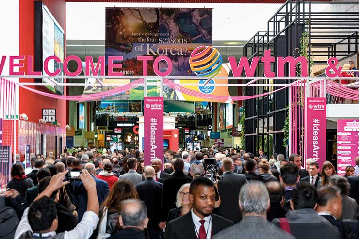 WTM 2018 crowded thoroughfare