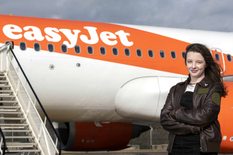 Meet easyJet's newest recruit – 16-year-old Ellie Carter