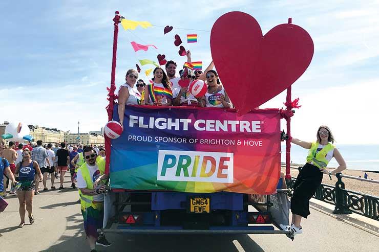 Flight Centre attend Brighton and Hove Pride