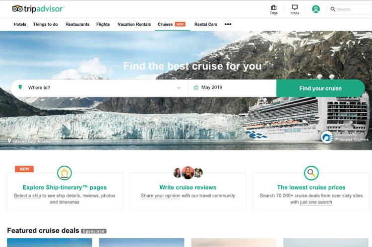 TripAdvisor launches cruise section on UK site
