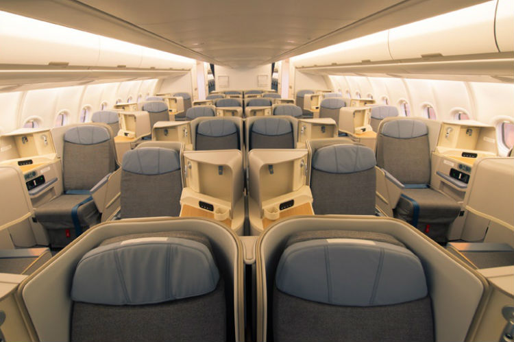 Air Mauritius A330 Business Class cabin
