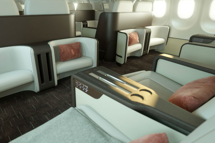 Four Seasons private jet cabin