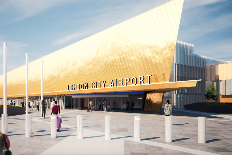 London City airport's proposed new terminal has been put on hold
