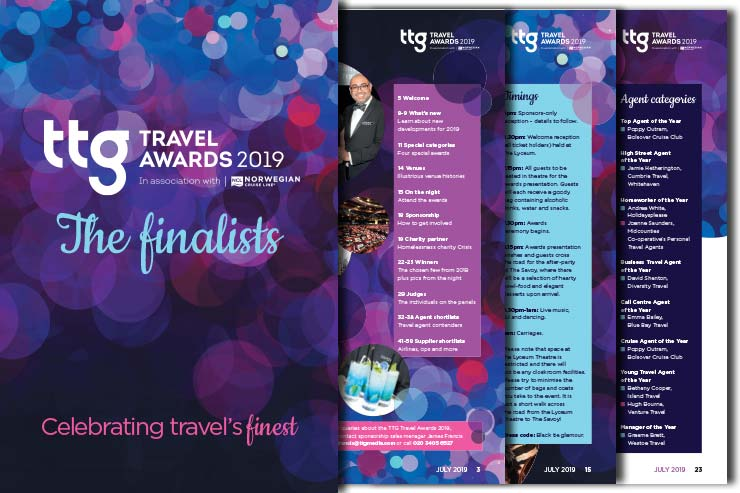 TTG Travel Awards 2019 – The Finalists
