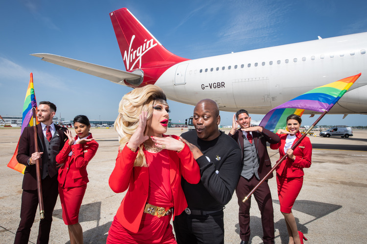 Video: Highlights from Virgin Atlantic's incredible 'Pride flight'