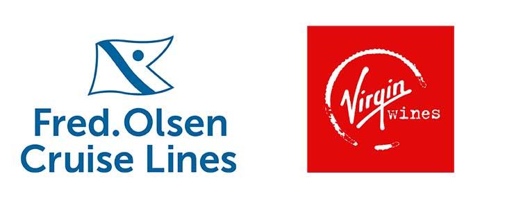 Fred Olsen and Virgin wines logos