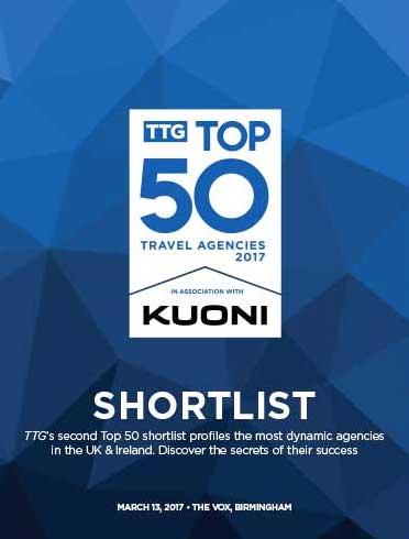 TTG Top 50 Travel Agencies 2017 Shortlist