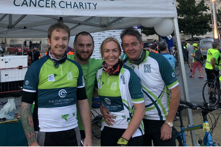 Azure charity cyclists