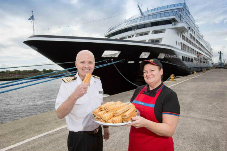 Azamara guests treated to Greggs banquet during line's first Tyneside call