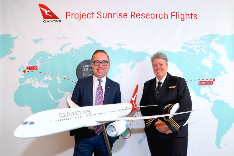 Qantas plans London-Sydney ultra long-haul test flight