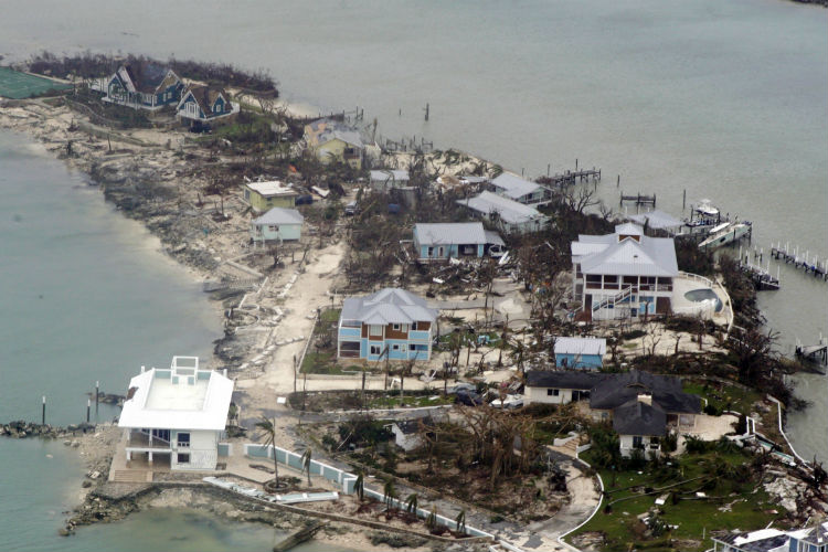 Dorian caused widespread devastation in the Bahamas. Credit: US Coast Guard / Adam Stanton