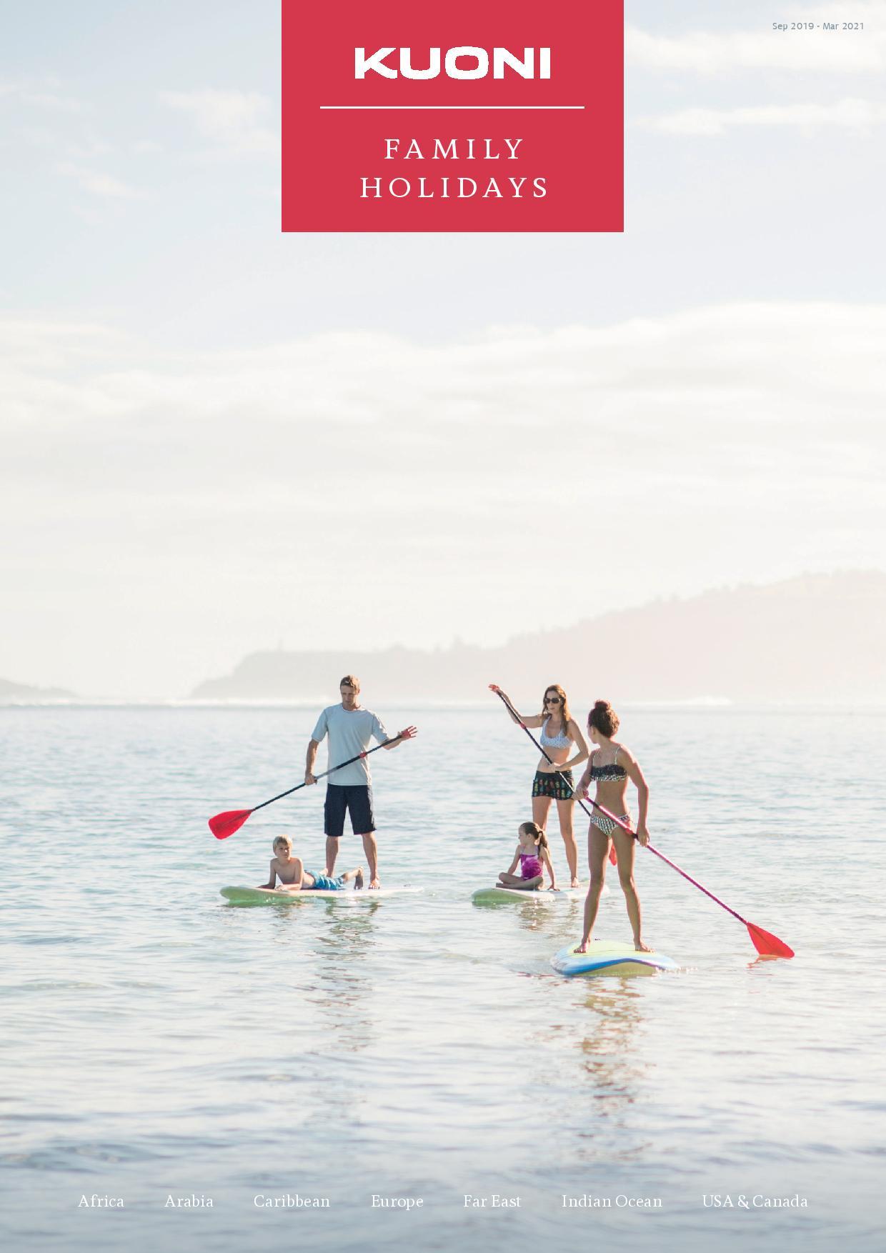 Kuoni's Family Holidays brochure