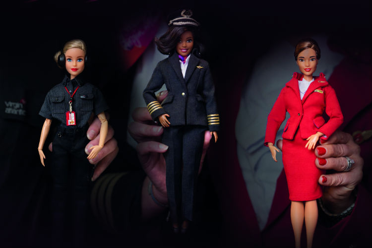 Virgin Atlantic has teamed up with Barbie to inspire young girls wanting to become pilots and engine
