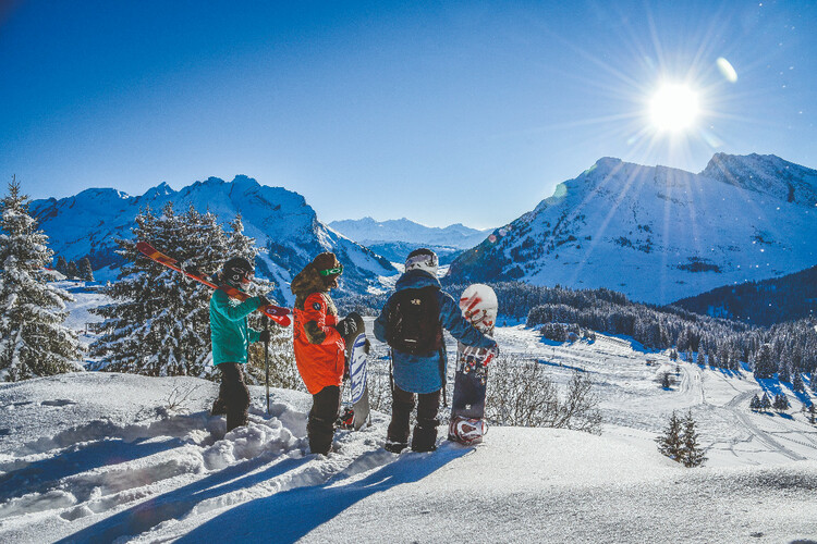 Skiing and Savoyarde specialities in the French resort of La Clusaz