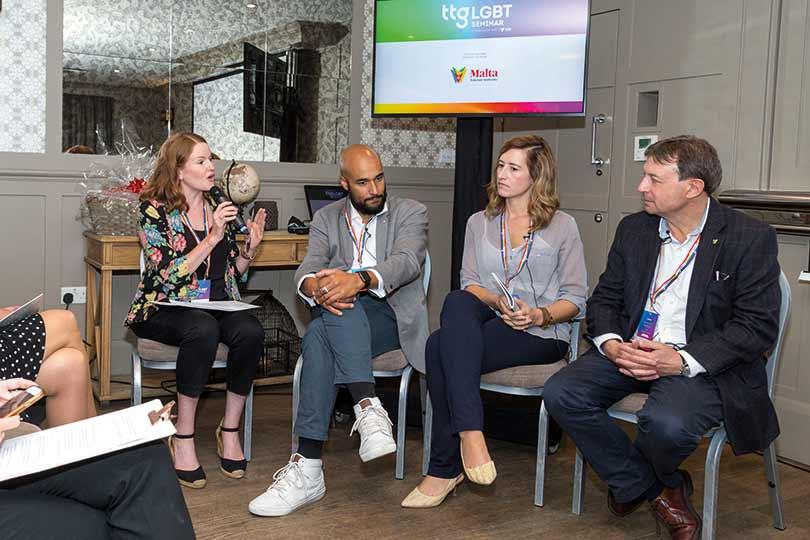 Pippa Jacks moderates a panel at the TTG LGBT Seminar 2019