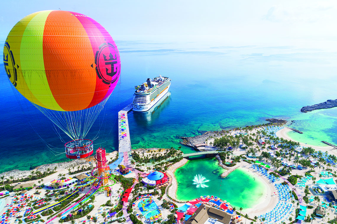 Super slides and beach bars at Royal Caribbean's CocoCay in the Bahamas