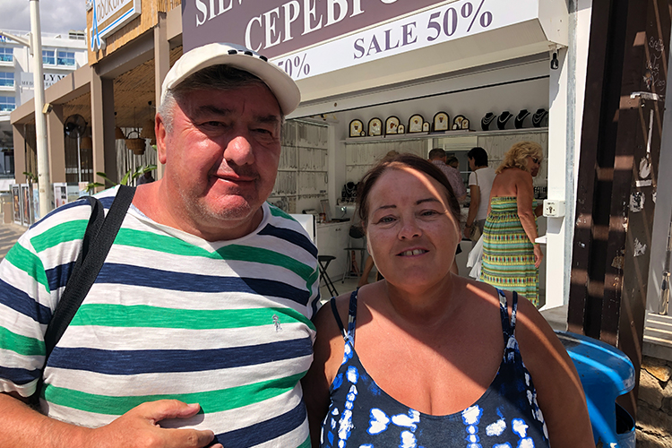 "Mr and Mrs Sinclair from Manchester, on holiday with Thomas Cook, say they've ""heard nothing"""