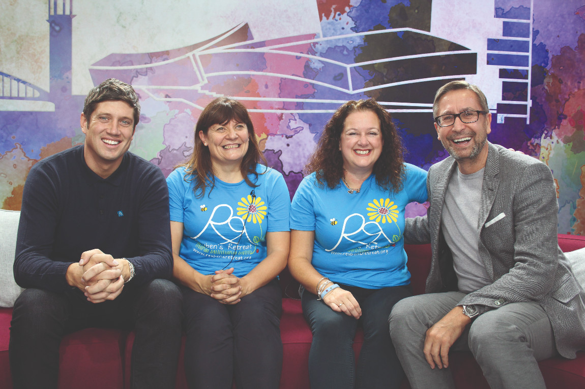 Vernon Kay joins Reuben's Retreat at the Travel Counsellors headquarters