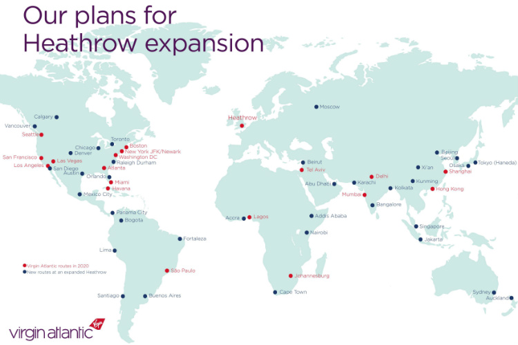 New global destinations for Virgin could include Sydney, Calgary and Moscow