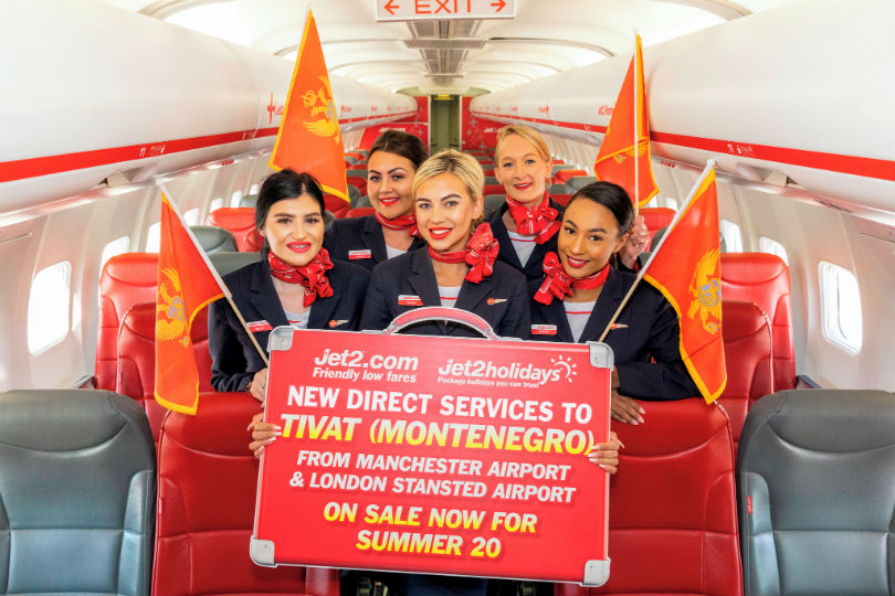 Jet2 will fly to Montenegro from Stansted and Manchester