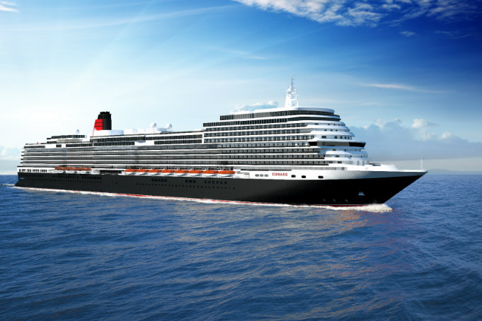 Visualisation of Cunard's new, as yet unnamed, ship