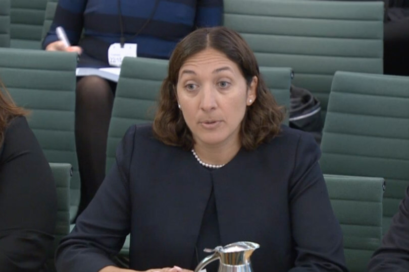 Hemione Hudson, head of audit at PwC at the select committee. (Image: Parliament.tv)