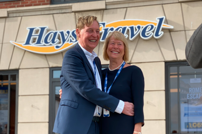 John and Irene Hays, who own Hays Travel