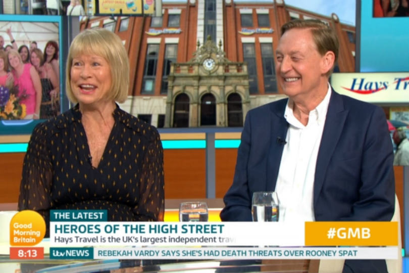 John and Irene Hays light up Good Morning Britain