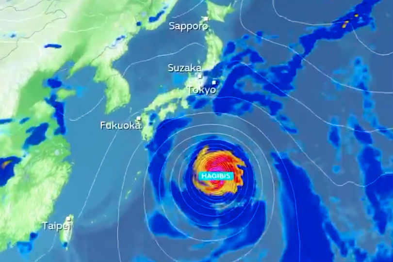 Typhoon Hagibis prompts Foreign Office warning