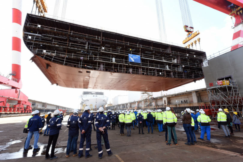 Royal Caribbean held a keel-laying ceremony for Wonder of the Seas