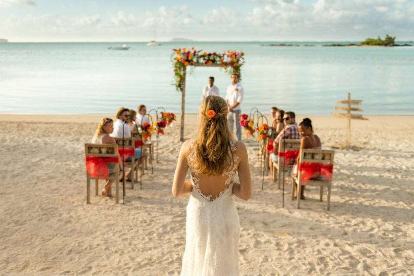 A weddingmoon, where couples get married and enjoy a honeymoon in one trip