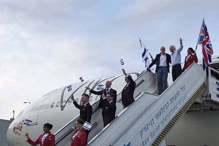 Virgin Atlantic's celebration flight to Tel Aviv