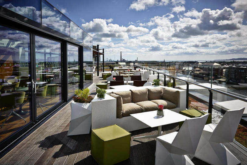 The Marker Hotel in Dublin has a rooftop bar and terrace