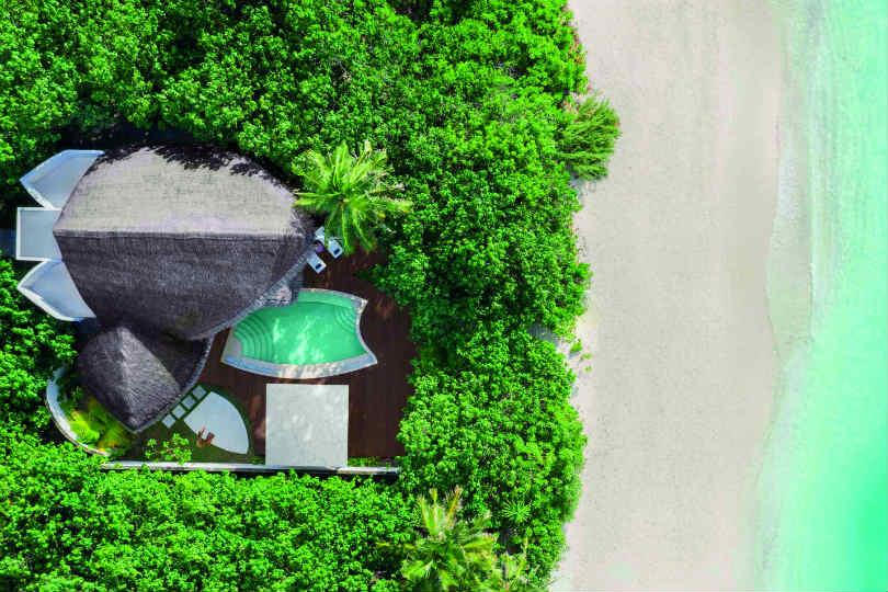 JW Marriott beach pool birds eye view