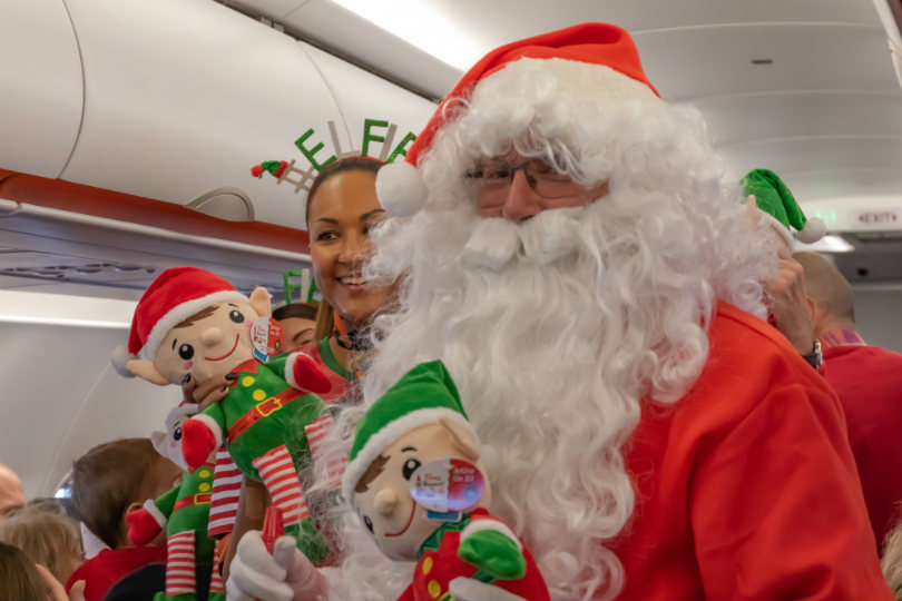 London Southend airport's Santa Flight 2018