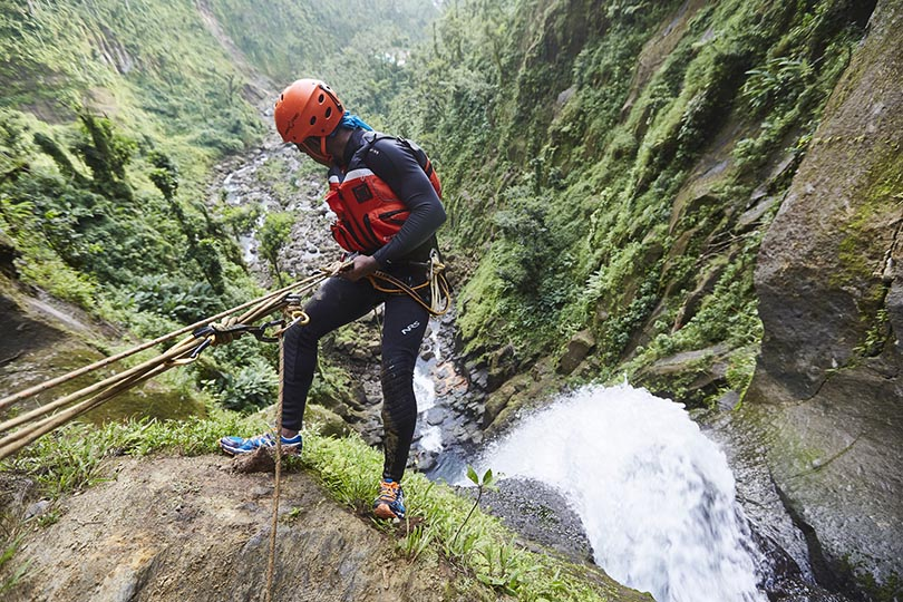 5. Adventurers can go canyoning