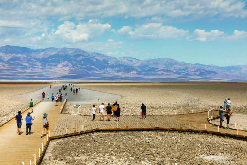 TrekAmerica took clients to destinations like California's Death Valley. Picture: Peter Ellegard