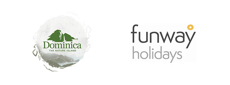 Dominica and Funway logos