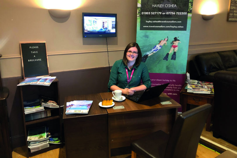 Travel Counsellor Hayley O'Shea works in her parents' coffee shop