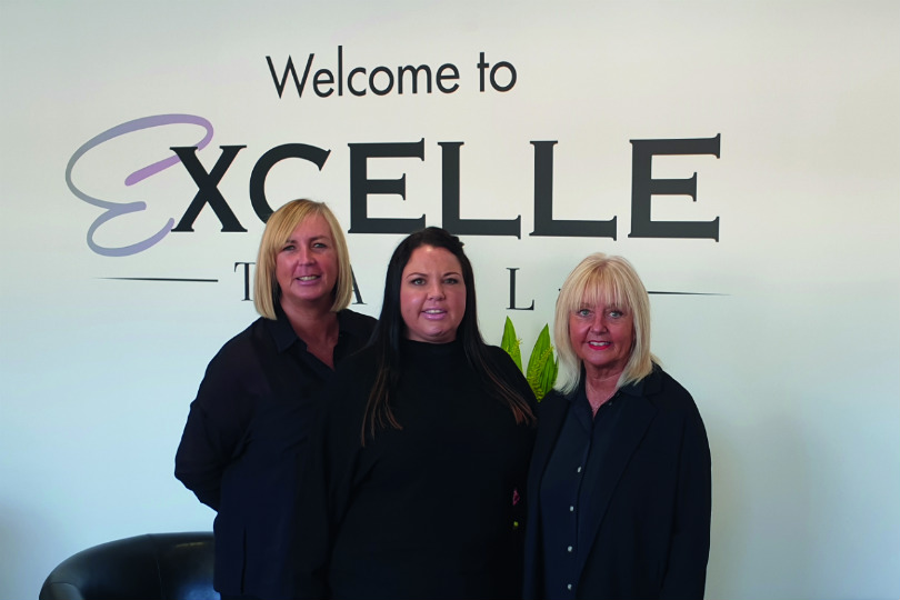 Alison Wood with colleagues at Excelle
