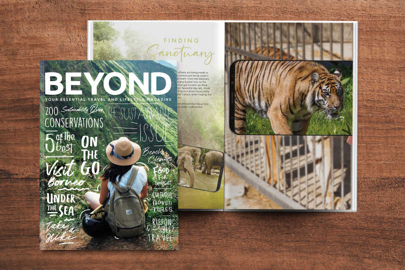 The Global Travel Group offers its members this Beyond magazine, three times a year