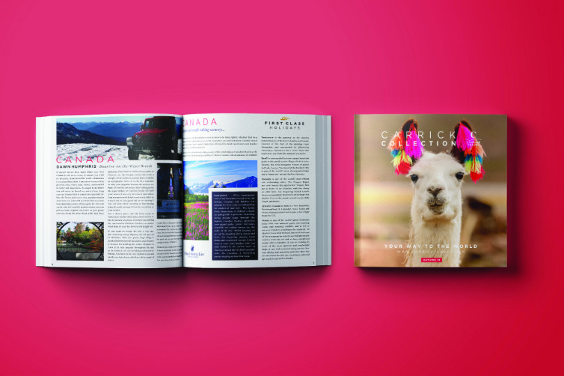 The Carrick Collection magazine is a key component of  Carrick Travel's marketing