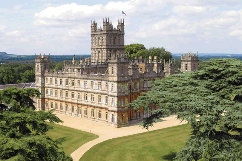 Downton Abbey is filmed at Highclere Castle in Hampshire