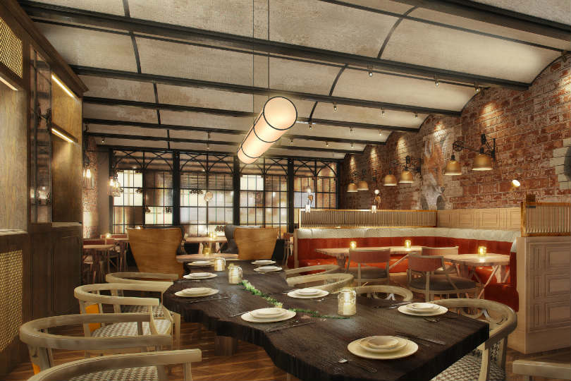 The Yard restaurant will be in The Unbound Collection by Hyatt's first property in the UK