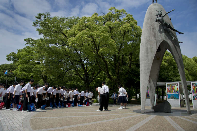 More than 60,000 people died instantly when a nuclear bomb hit Hiroshima
